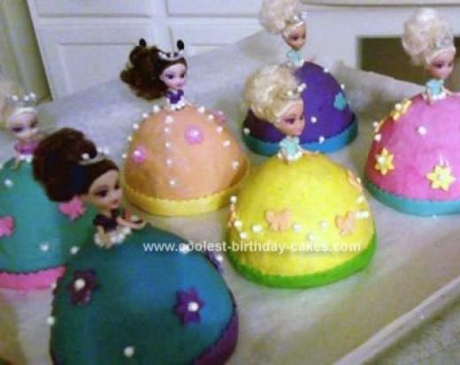 8 Photos of Individual Princess Cakes