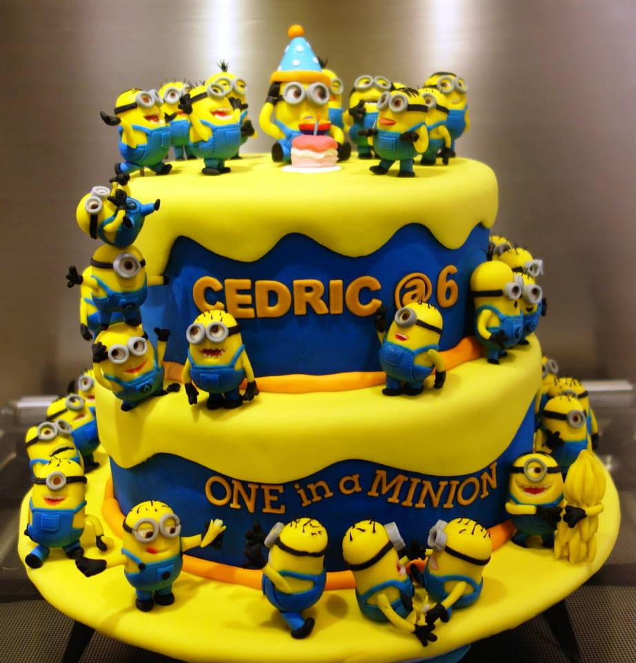 Astounding 12 Minion Party Cakes Photo Minion Birthday Cake Cute Superman Funny Birthday Cards Online Aeocydamsfinfo