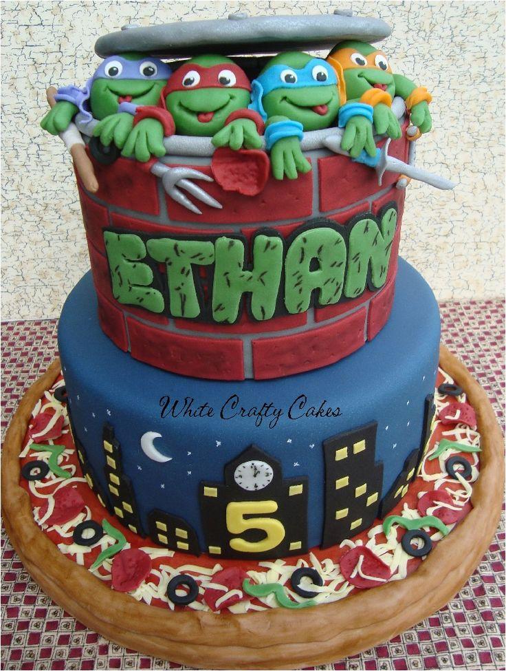 Remarkable 12 Ninja Turtle Cake Cakes Photo Ninja Turtle Birthday Cake Funny Birthday Cards Online Alyptdamsfinfo