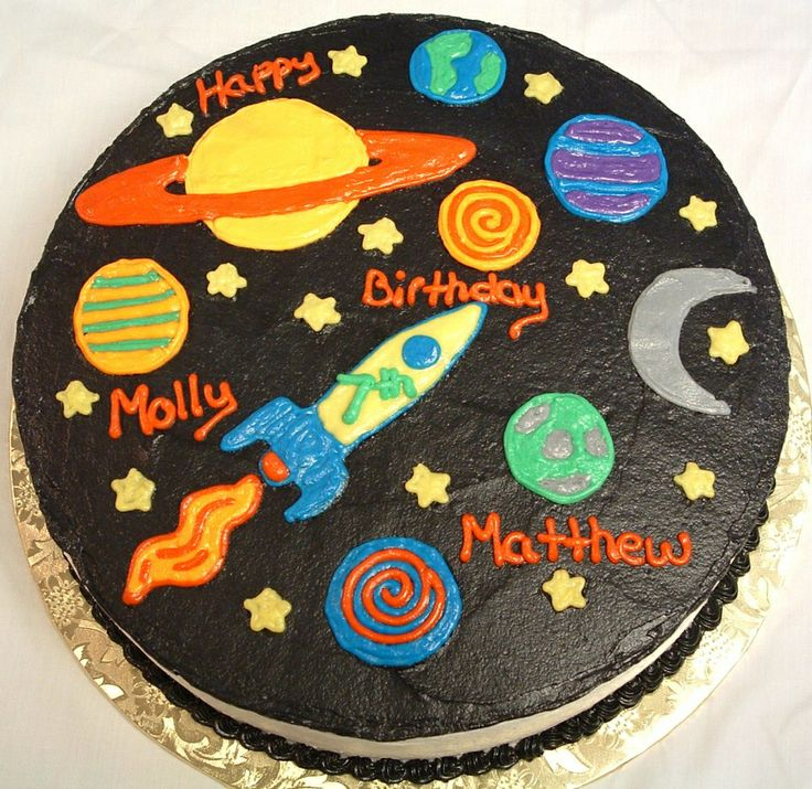 Excellent 6 Examples Of Outer Space Cakes Photo Outer Space Birthday Cake Funny Birthday Cards Online Inifofree Goldxyz