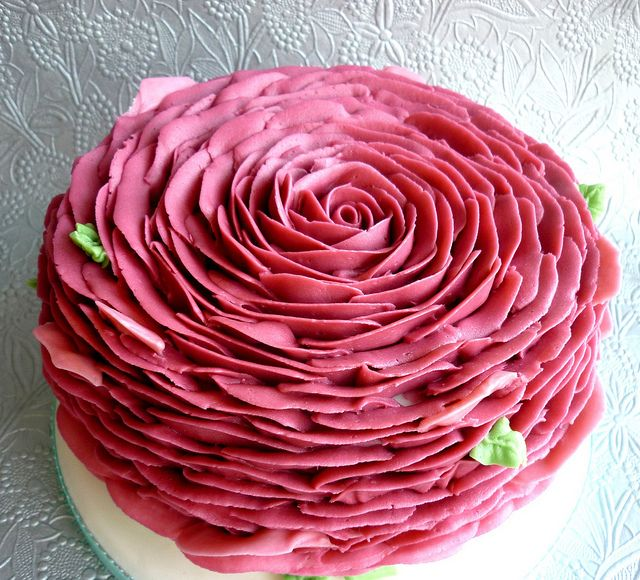 Piped Rose Petal Cake