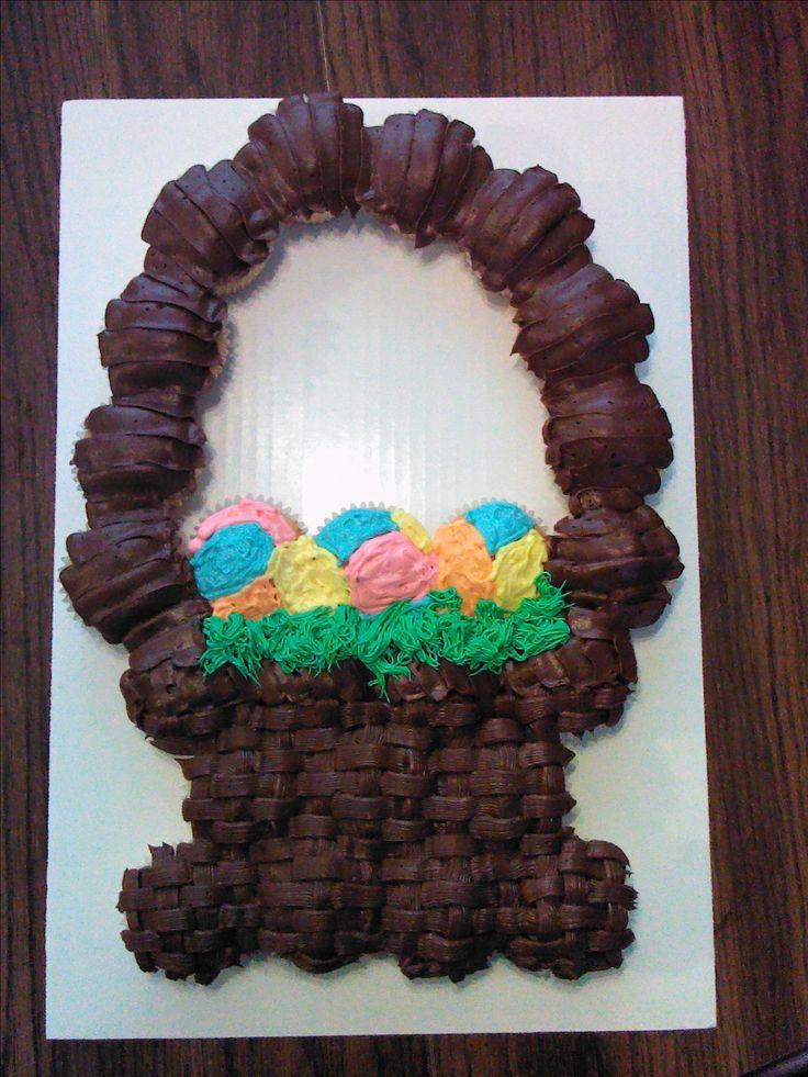 Pull Apart Cupcake Cake Easter Basket