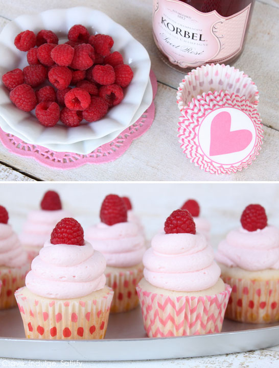 Raspberry Champagne Cupcakes Recipe