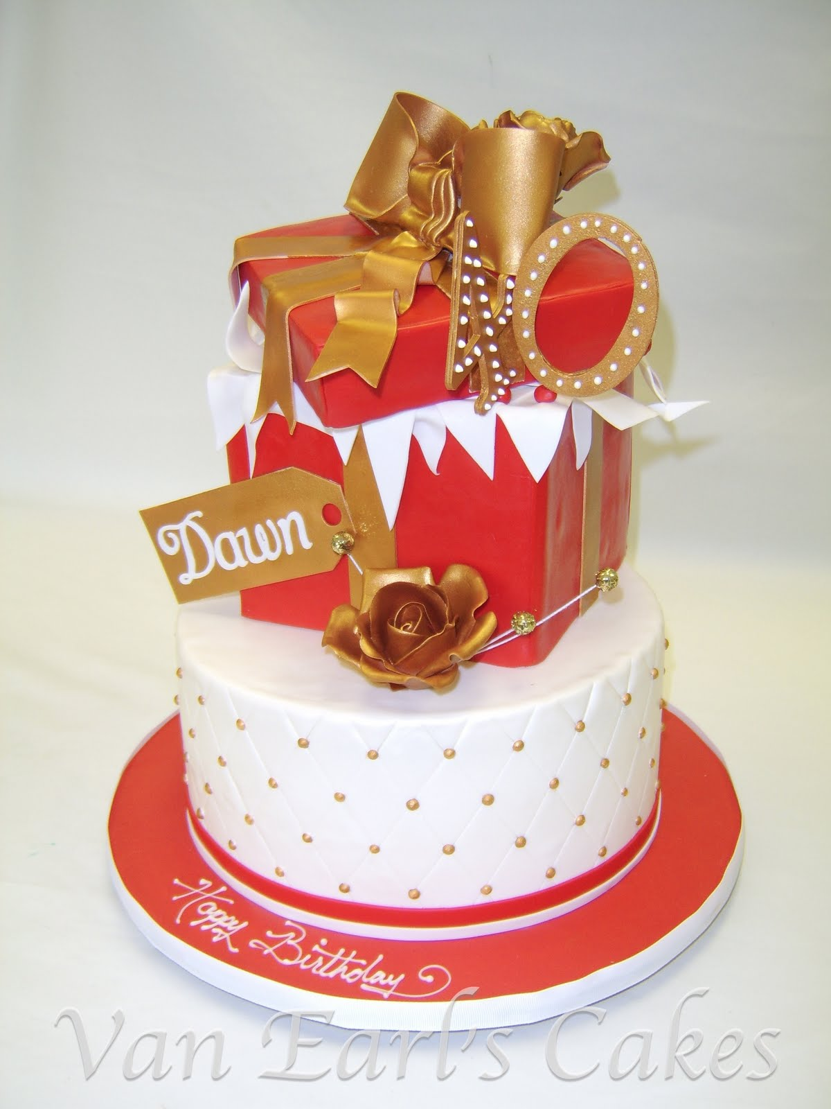 13 Photos of Red And Gold 40th Anniversary Cakes