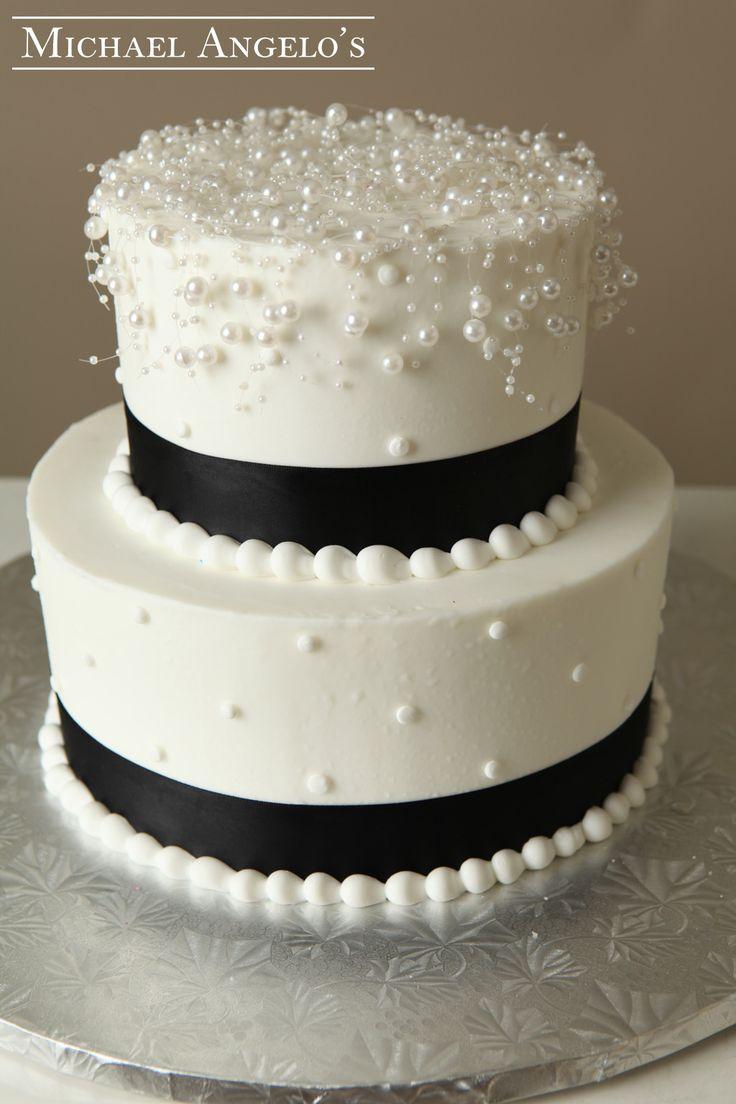 Simple 2 Tier Ercream Wedding Cakes