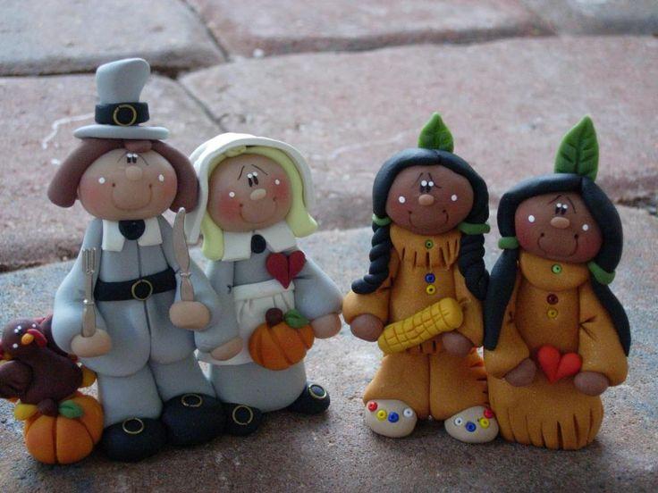 7 Photos of Fondant Cakes Pilgrims And Indians