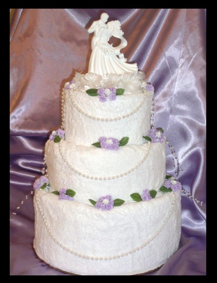 Unique Wedding Towel Cake