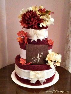 Wedding Shower Gift Towel Cake