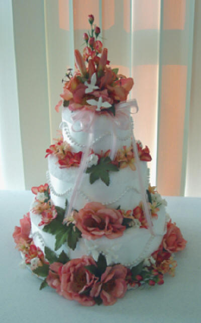 Wedding Shower Towel Cake