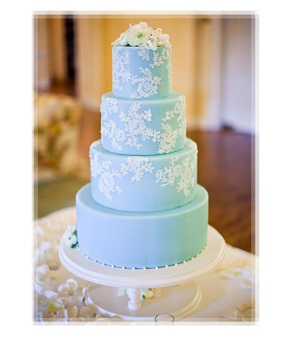 12 Blue Winter Themed Cakes Photo Pine Cone Winter Wedding Cake