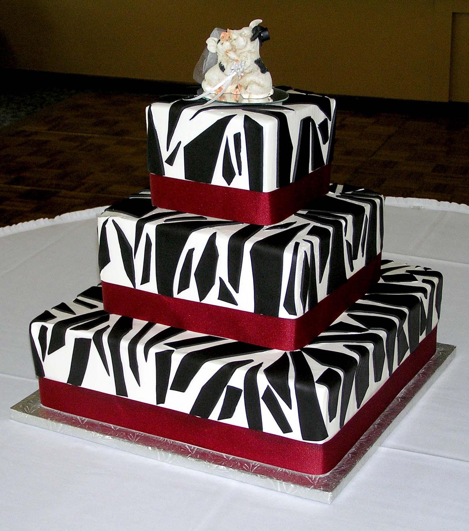 Zebra Print Wedding Cake