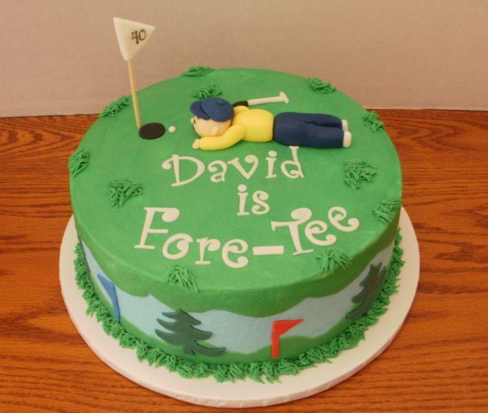 Pleasing 13 Golf Theme 40Th Birthday Cakes For Men Photo Golf Themed 40Th Funny Birthday Cards Online Alyptdamsfinfo