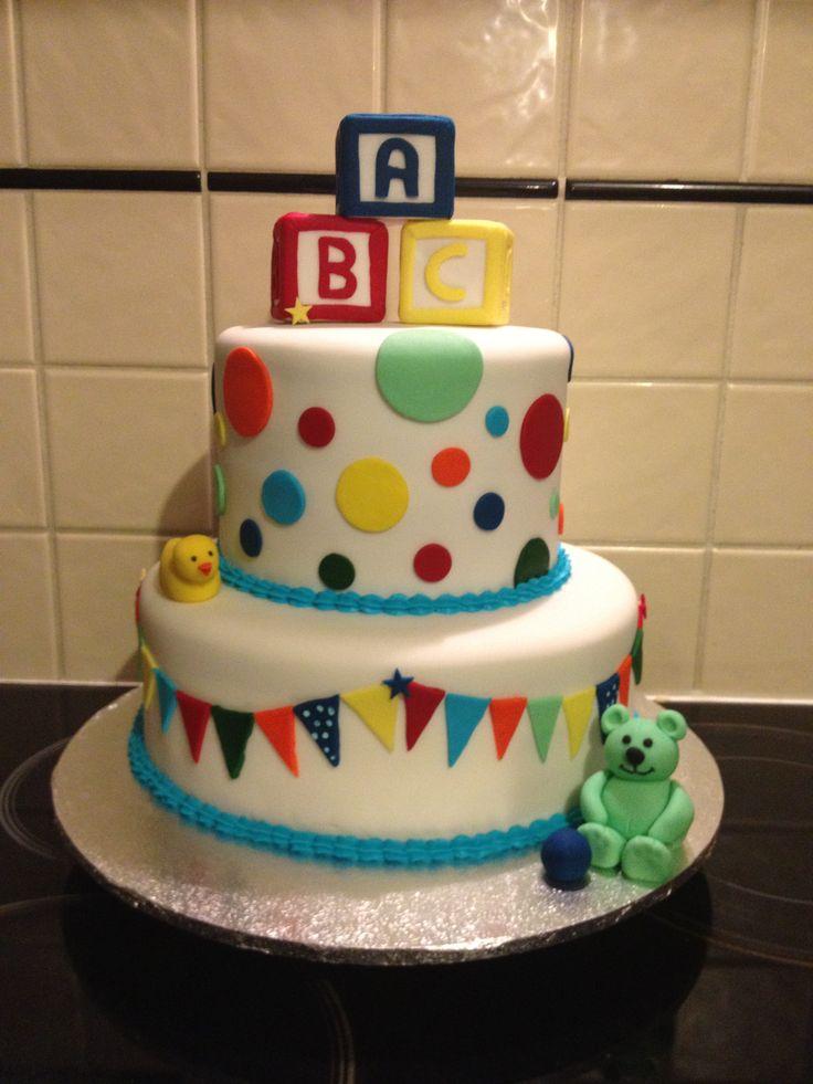 ABC Blocks Baby Shower Cake