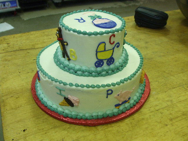 Alphabet Baby Shower Cakes