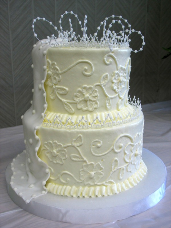 Bridal Shower Cake with Lace