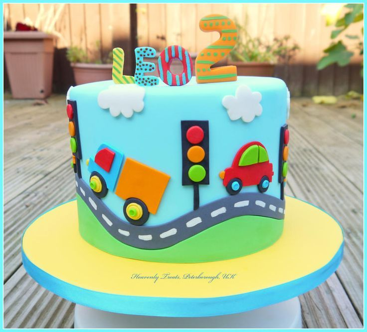11 Photos of Cars And Trucks Boy Birthday Cakes For 2 Year Old