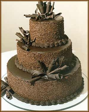 Chocolate Wedding Cake Idea