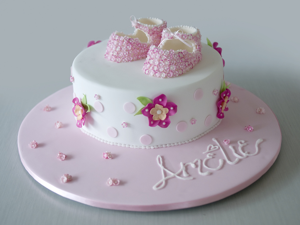 Christening Cake Ideas for Girls