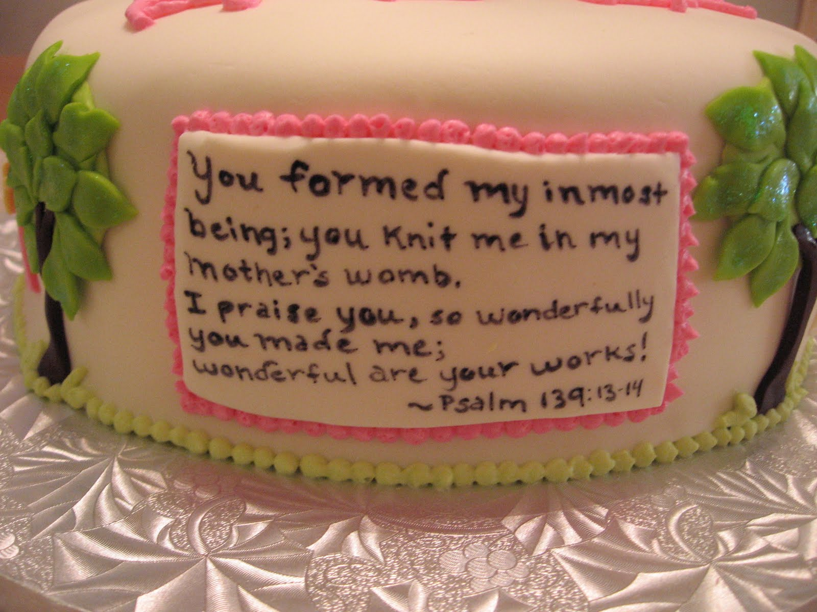 Christian Baby Shower Cake