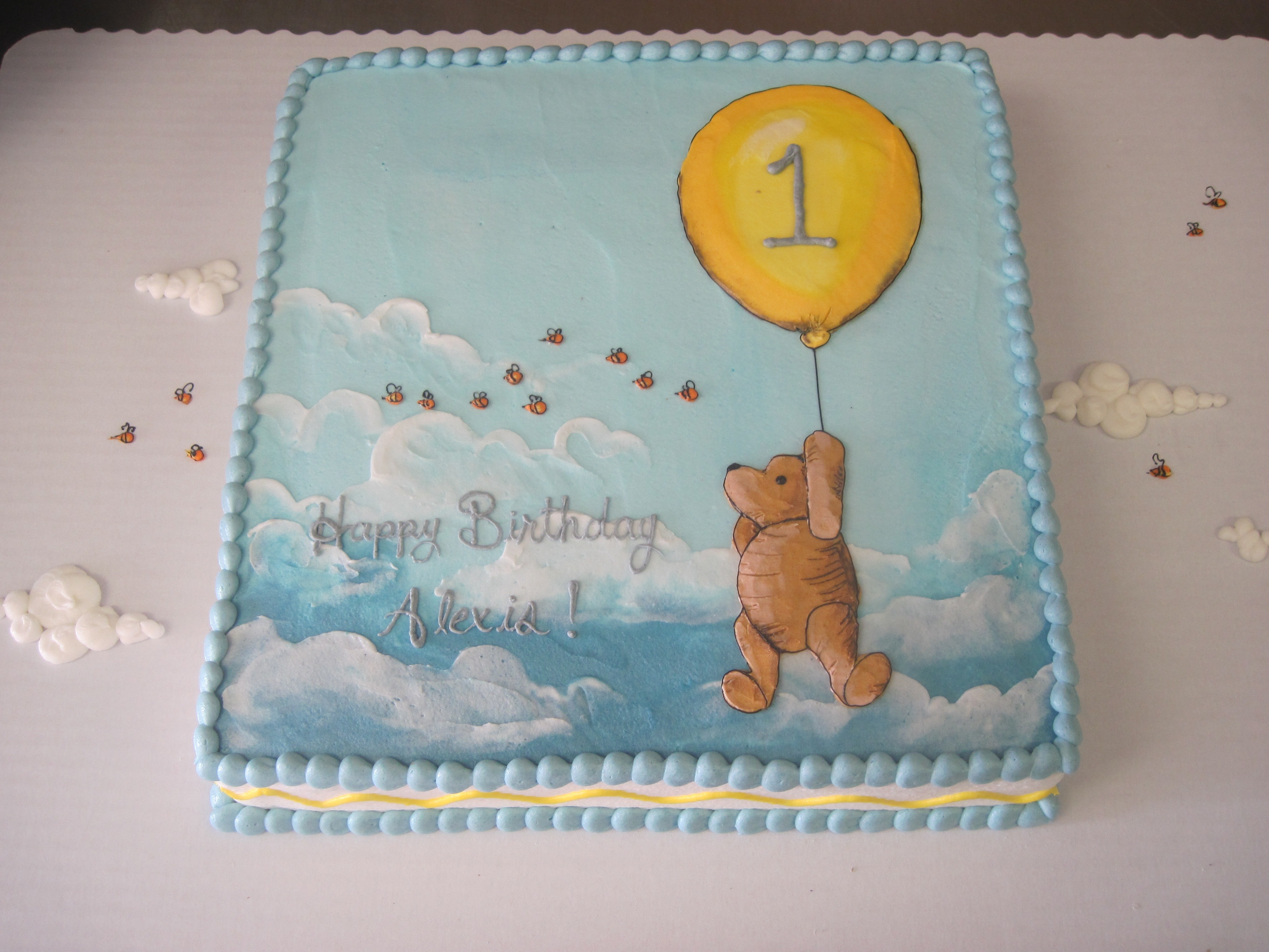 Classic Winnie the Pooh Book Cake