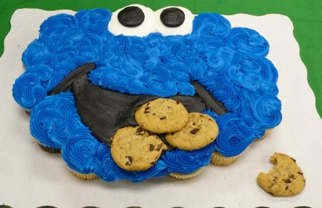 7 Photos of Cookie Monster Pull Apart Cupcakes