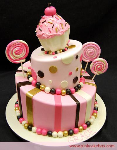 Cupcake Candy Birthday Cake