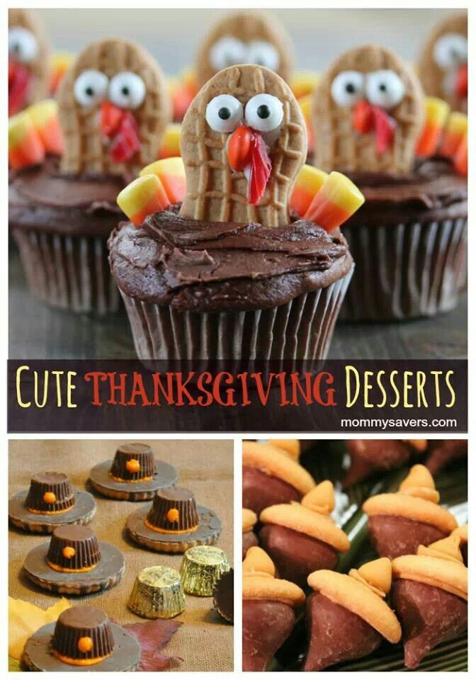 Cute Thanksgiving Desserts - Nutter Butter Turkeys
