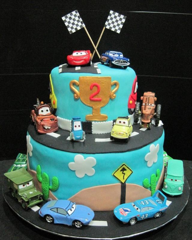 Disney Cars Fondant Cake