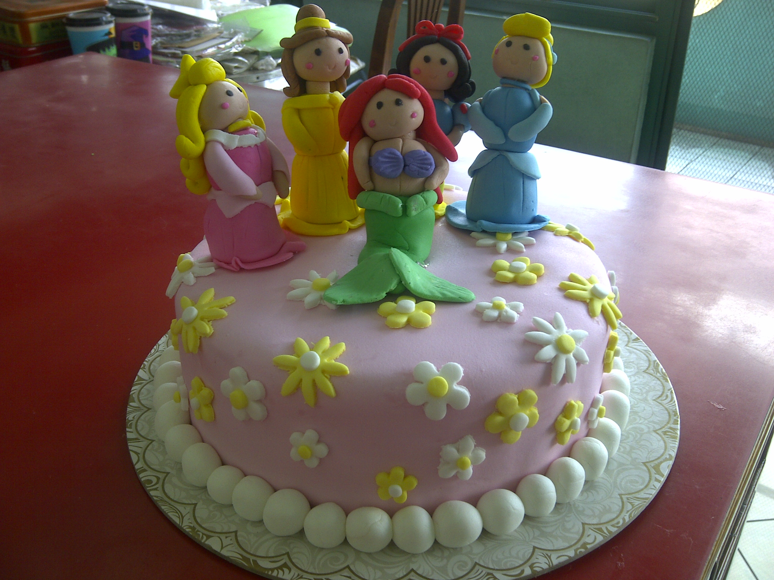 Disney Princess Fondant Cake