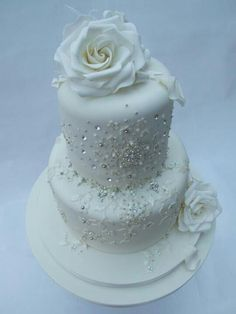 Edible Wedding Cake with Bling