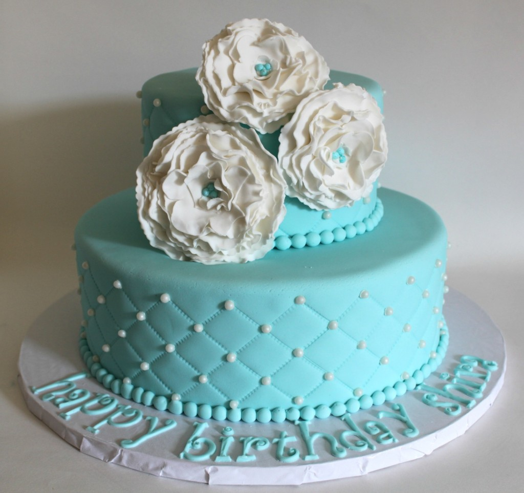 Remarkable 11 Quilted Cakes With Tiffany Blue Sweet 16 Birthday Decorations Birthday Cards Printable Trancafe Filternl