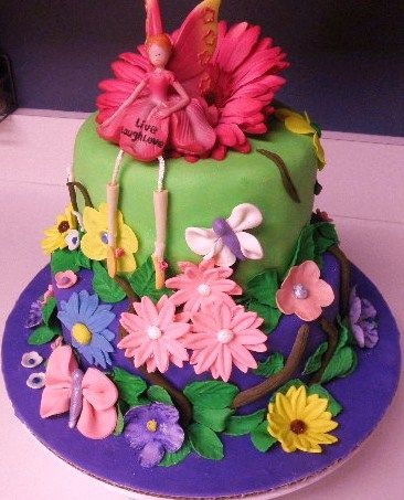 10 Photos of Tinkerbell Birthday Cakes For Girls Butterflies