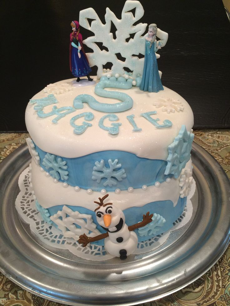 Frozen Disney Cake Fondant