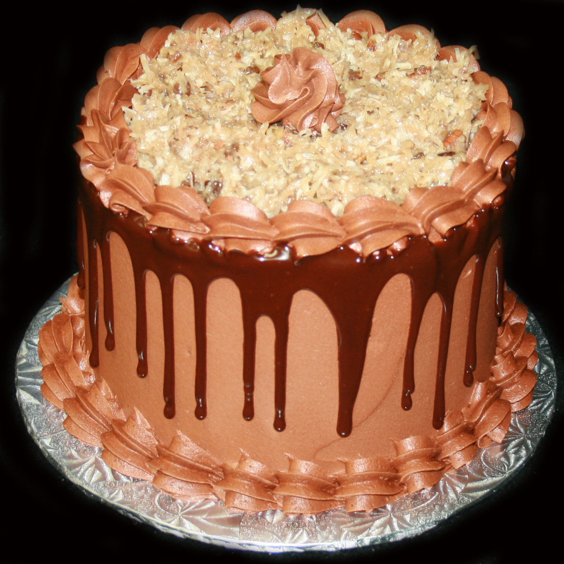German Chocolate Wedding Cake