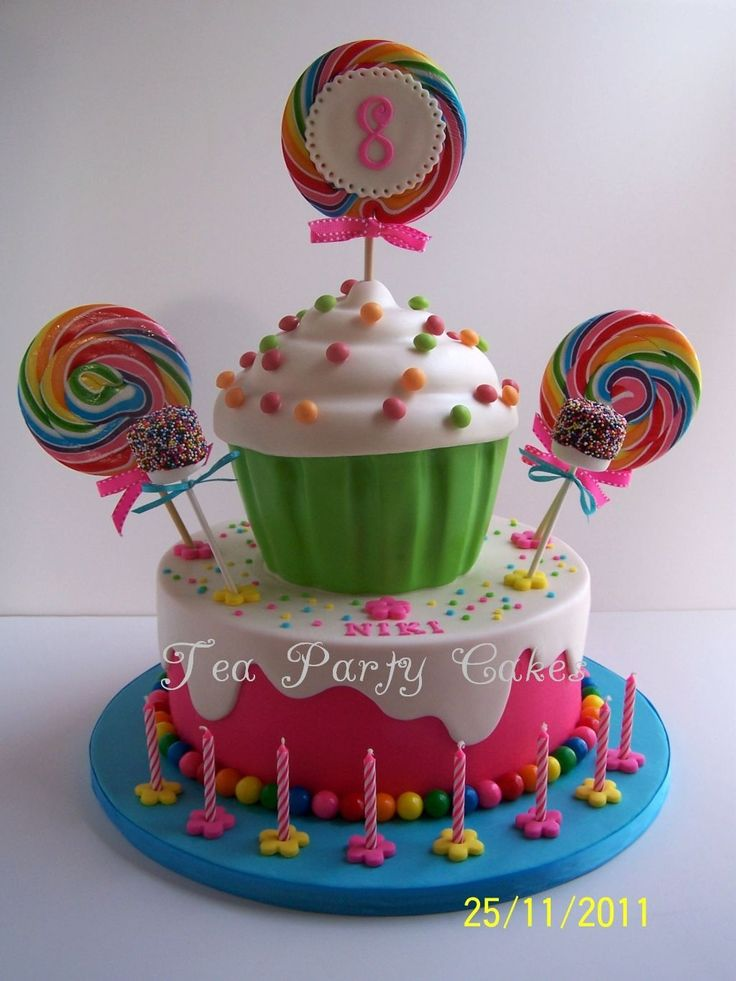 Giant Cupcake Candy Birthday Cake Ideas