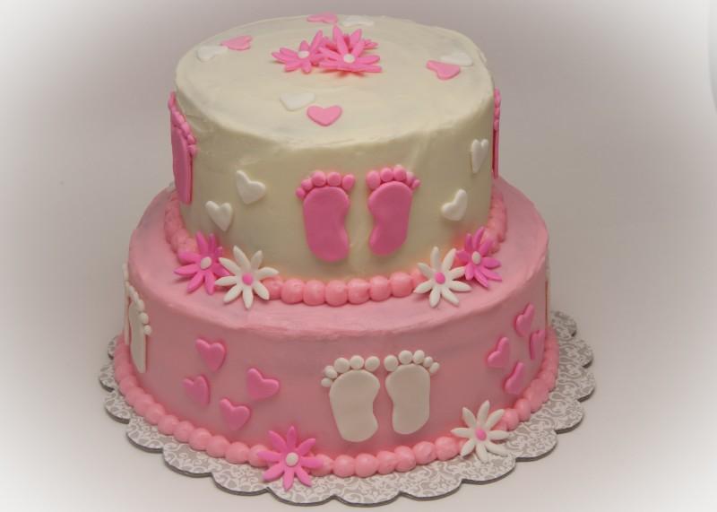 7 Photos of Fondue Cakes Girl Baby Shower