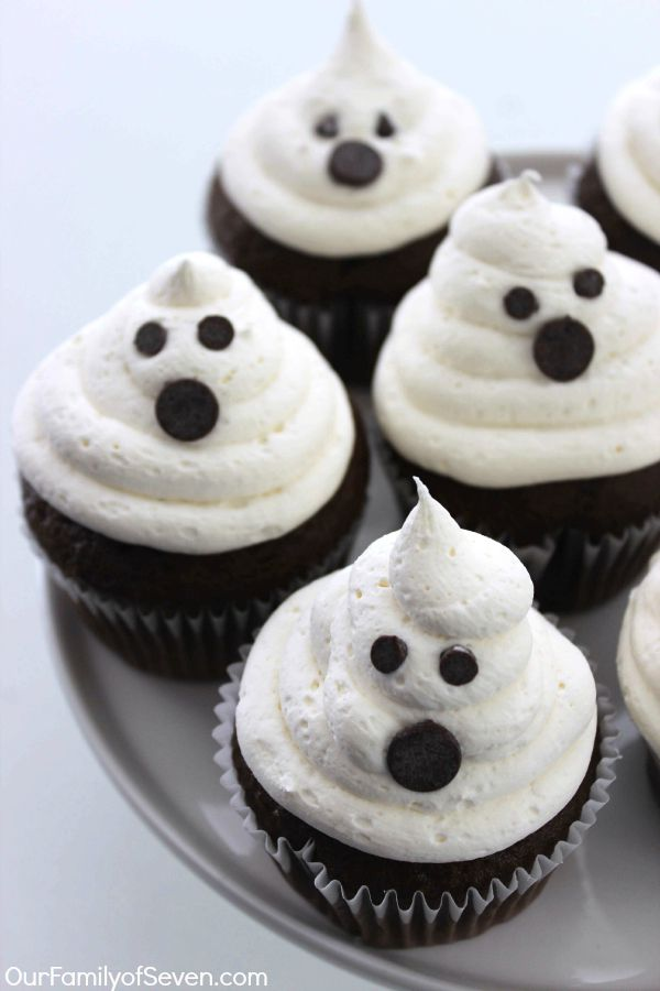 10 Photos of Marshmallow Mini Cupcakes For Halloween