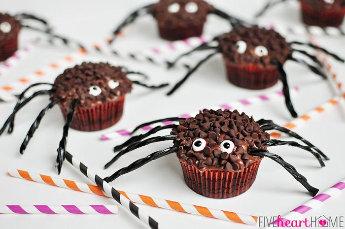 11 Photos of Halloween Cupcakes Spider Pretz