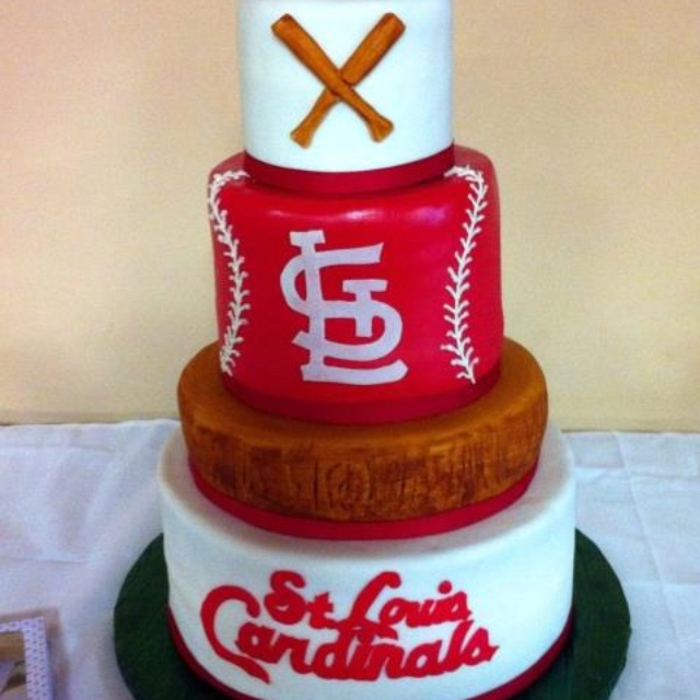 Swell 11 Cardinal Baseball Happy Birthday Cakes Photo St Louis Personalised Birthday Cards Arneslily Jamesorg