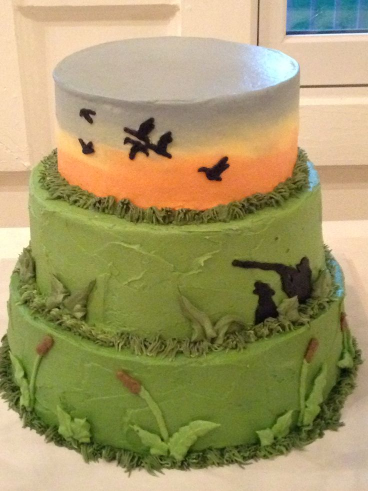 12 Photos of Hunting Themed Groom S Cakes