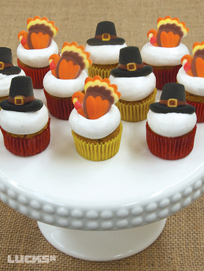 Mini Turkey Cupcakes