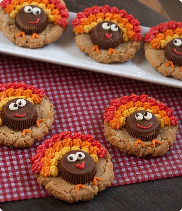Peanut Butter Cup Cookies Turkey