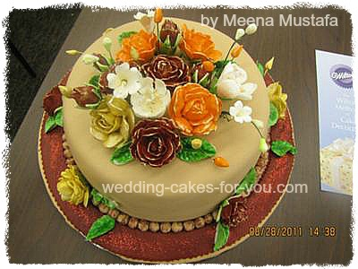 Retirement Cake with Flowers