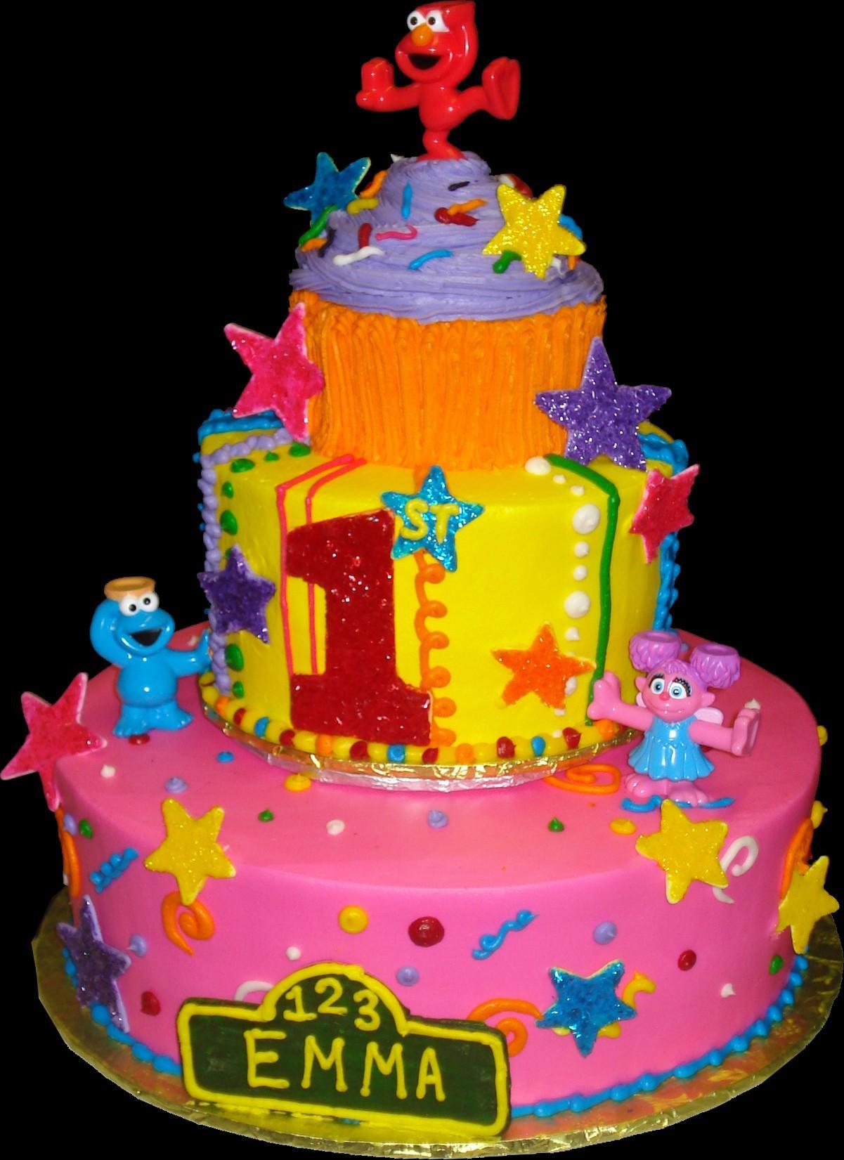 Brilliant 10 Sesame Street 1St Birthday Cakes Buttercream Photo Sesame Funny Birthday Cards Online Hetedamsfinfo