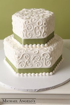 5 Photos of Simple 2 Layer Fondant Cakes