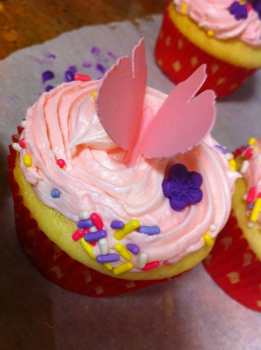 5 Photos of Cupcakes Sugar Sheet Flowers