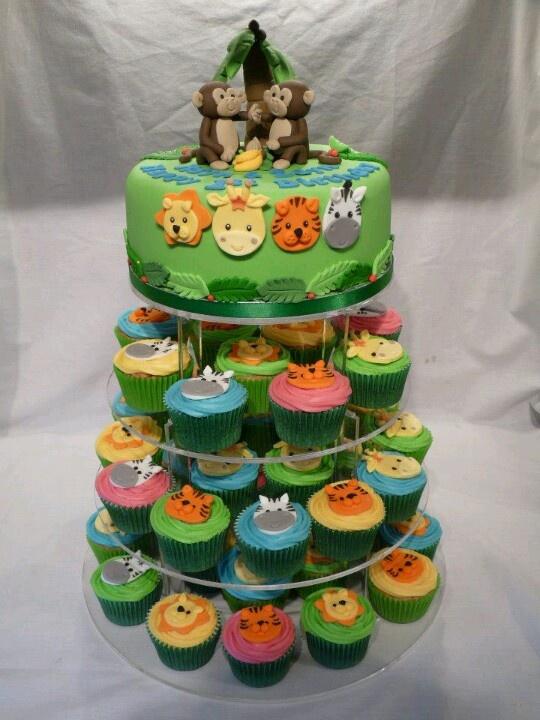 10 Photos of Safari Cupcakes With Sweet Sixteen Cakes
