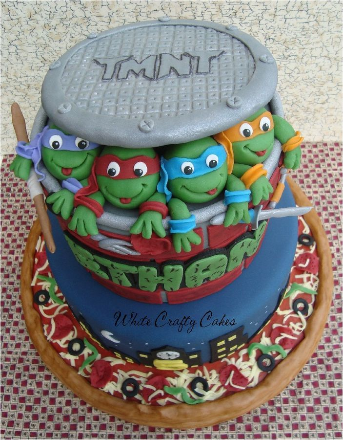 Strange 7 Teenage Mutant Ninja Turtles Cakes Videos Photo Teenage Mutant Funny Birthday Cards Online Fluifree Goldxyz