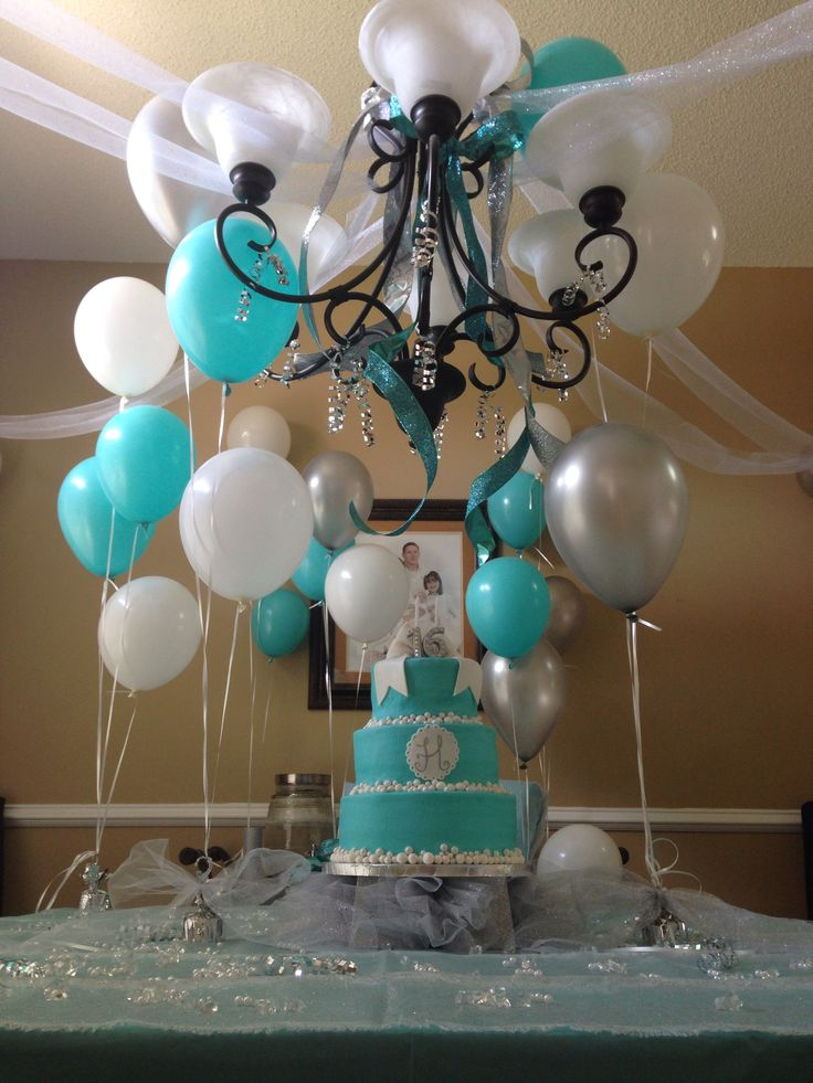 Tiffany Blue Sweet 16 Decorations