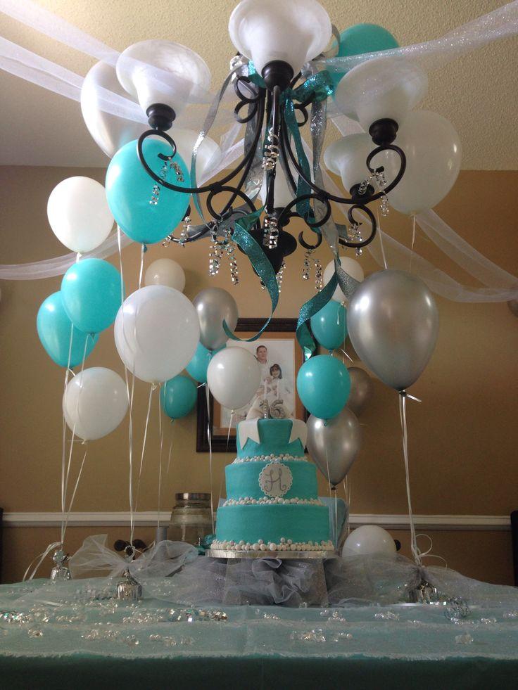 Tiffany Blue Sweet 16 Decorations